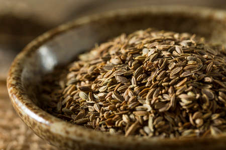 dill seed: Raw Organic Dill Seed in a  Bowl