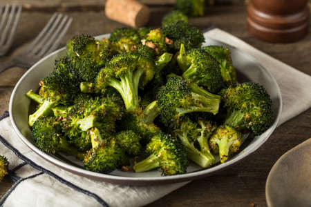 florets: Organic Green Roasted Broccoli Florets with Garlic