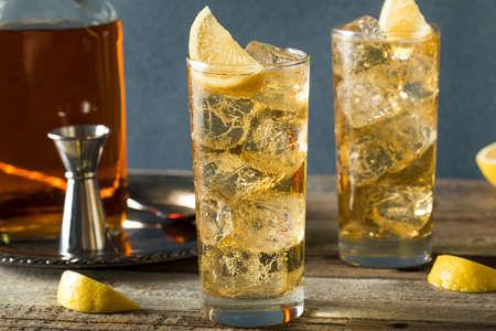 highball: Whiskey Highball with Ginger Ale and Lemons