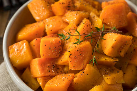 Homemade Thanksgiving Roasted Squash with Pepper and Herbs