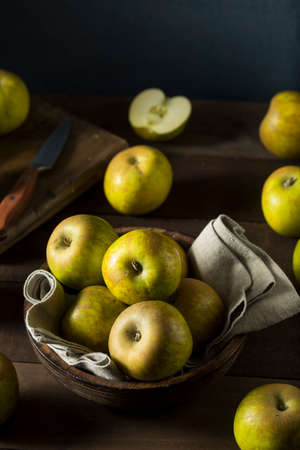 Raw Organic Heirloom Golden Russet Apples Ready to Eat