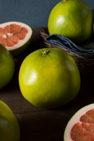 Raw Green Organic Citrus Pummelo Fruit Ready to Eat