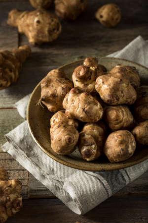 Raw Organic Jerusalem Artichoke Sunchokes Ready to Cook