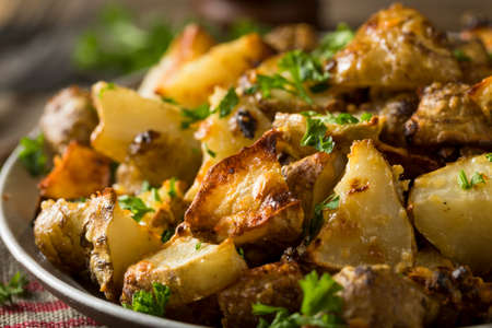 Homemade Roasted Jerusalem Artichoke Sunchokes with Garlic and Cheese