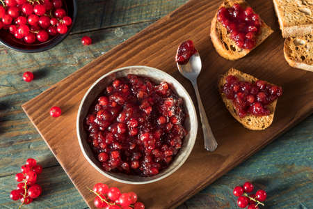 Homemade Organic Red Currant Jam Ready to Eat 写真素材