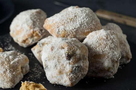 Homemade Christmas Stollen Cake Bites with Powdered Sugar