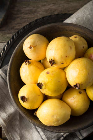Raw Organic Yellow Guava Fruit Ready to Eat
