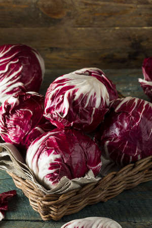radicchio: Raw Organic Purple Radicchio Lettuce Ready to Eat