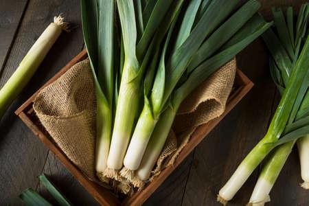 kulinarne: Raw Green Organic Leeks Ready to Chop