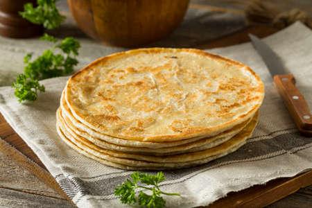 Homemade Flour Indian Paratha Bread Ready to Eat