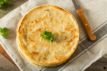 ghee: Homemade Flour Indian Paratha Bread Ready to Eat