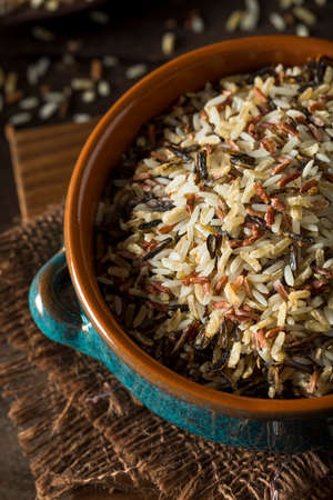 Assorted Organic Dry Mixed Rice in a  Bowl Stock Photo