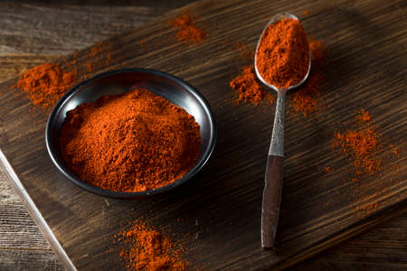 Raw Organic Red Paprika Spice in a Bowl