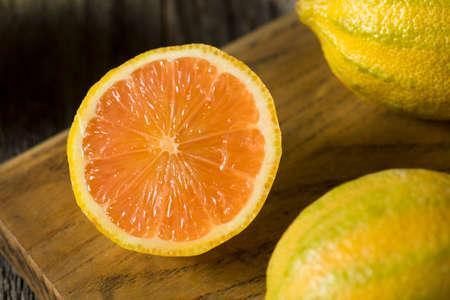 lemon wedge: Raw Organic Pink Lemons Ready to Use