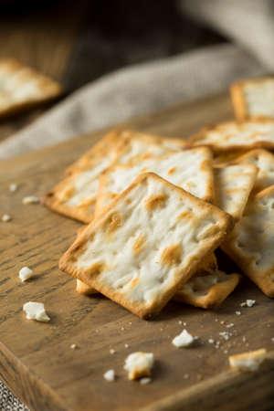 Crispy Salty Gluten Free Crackers Ready to Eat
