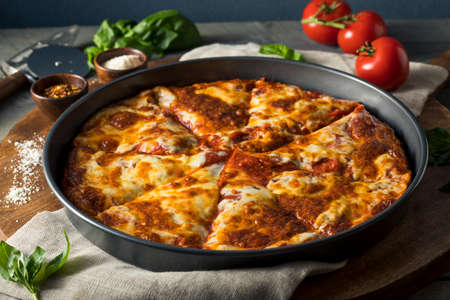 Homemade Cheese Pan Pizza Ready to Eat