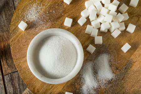Raw White Granulated Sugar Ready for Baking