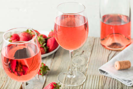 Refreshing Pink Rosé Wine in a Glass