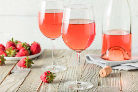 Refreshing Pink Ros� Wine in a Glass