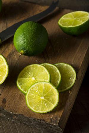 Raw Organic Green Fresh Limes Ready to Eat