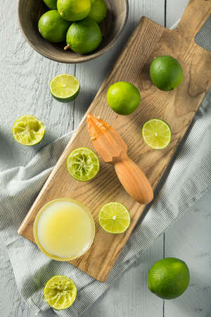 cold cut: Raw Organic Yellow Lime Juice in a Bowl