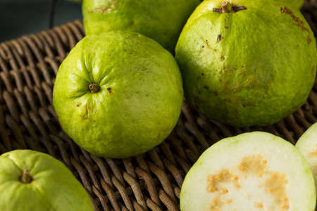 agricultura: Raw Organic Green Large Guava Ready to Eat Foto de archivo