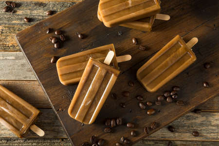 Homemade Refreshing Iced Coffee Popsicles on a Stick