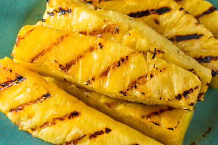 Sweet Grilled Pineapple Slices Ready to Eat