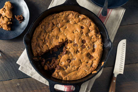 epicurean: Hot Homemade Chocolate Chip Skillet Cookie Ready to Eat