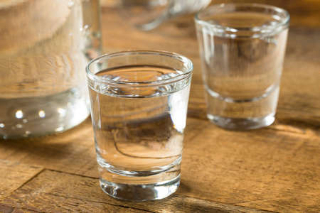 Boozy Alcoholic American Moonshine Shots Ready to Drink 写真素材