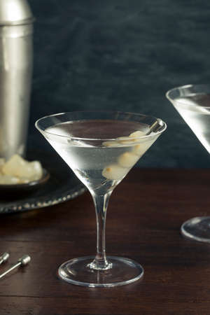 Homemade Boozy Gibson Martini with Cocktail Onions