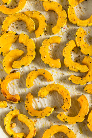 Homemade Roasted Delicata Squash with Salt and Pepper