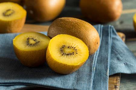 Raw Yellow Organic Golden Kiwis Ready to Eat