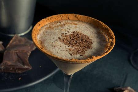 Boozy Chocolate Dessert Martini with Cocoa and Vodka