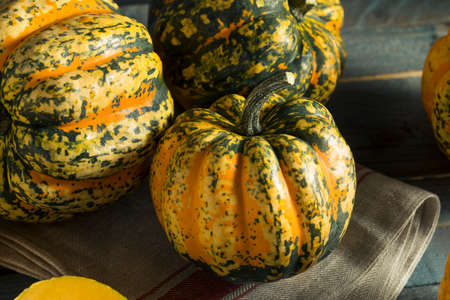Raw orange pumpkins ready to be cooked