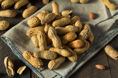 Dry Salted Roasted Shelled Peanuts in a Pile