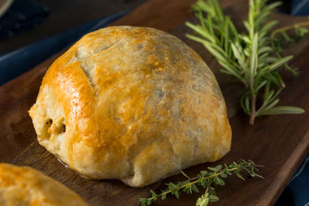Homemade Gourmet Individual Beef Wellington Ready to Eat Stock Photo