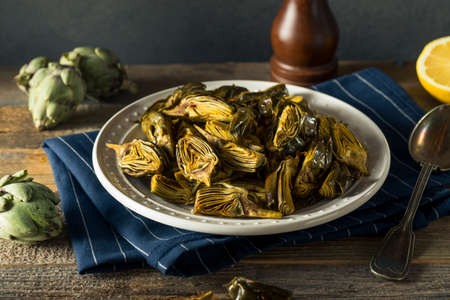 Roasted Organic Baby Artichokes with Lemon and Olive Oil