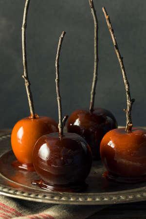 Pommes de bonbons fantaisie fantaisie pour halloween Banque d'images - 88607735