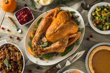 Organic Free Range Homemade Thanksgiving Turkey with Sides