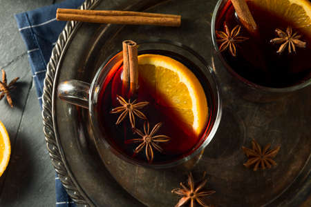 Spiced Homemade Mulled Wine with Orange and Cinnamon