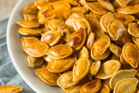 Homemade Roasted Spiced Pumpkin Seeds with Sea Salt
