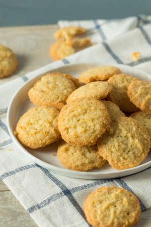 Sweet Homemade Vanilla Wafer Cookies on a plate Reklamní fotografie
