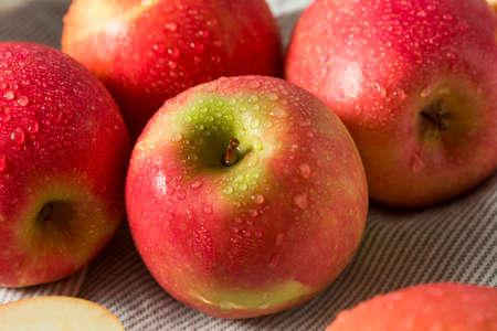 Mele di signora rosa organiche rosse crude pronte da mangiare Archivio Fotografico - 90379668