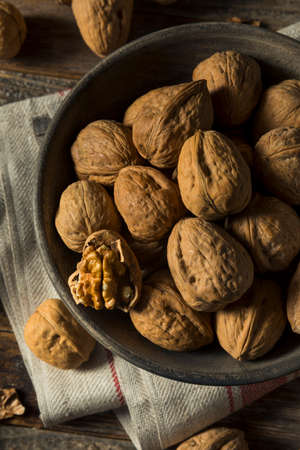 Raw Brown Organic Walnuts Ready to Eat