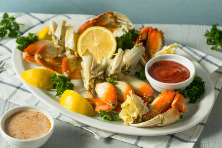 Fresh Caught Dungeness Crab wotj Butter and Lemon