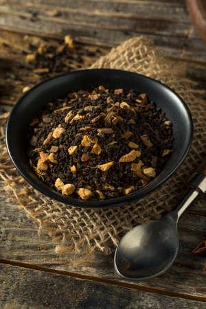 Raw Dry Organic Chai Tea in a Bowl 写真素材