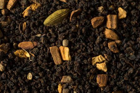 Raw Dry Organic Chai Tea in a Bowl Imagens