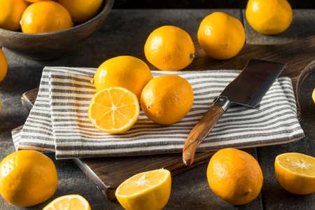 Raw Yellow Organic Meyer Lemons Ready to Juice