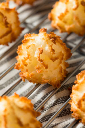 Homemade Baked Coconut Macaroons Ready to Eat Stock Photo